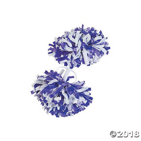 Purple & White Spirit Show Pom-Poms](Spirit Pom Poms Cheap)