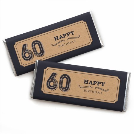 60th Milestone Birthday - Candy Bar Wrappers Party Favors - Set of 24](60th Birthday Party Packs)