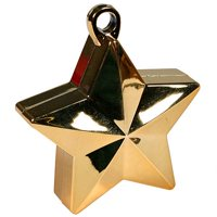 Star Balloon Weights Gold Package of 6
