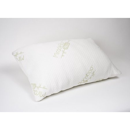 The Original Miracle Bamboo Shredded Memory Foam Pillow - Queen, Filled with shredded memory foam, the Original Miracle Bamboo Pillow is the pillow that.., By Ontel