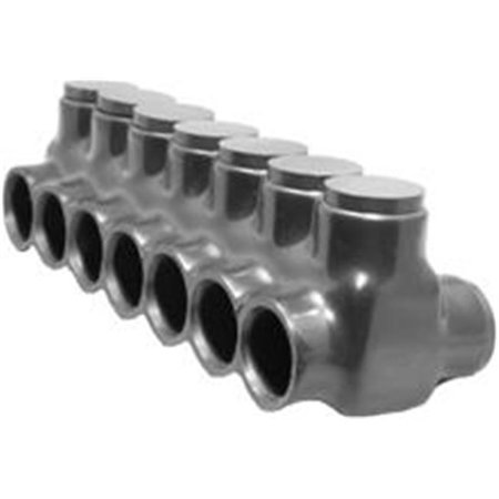 Morris Products 97657 Black Insulated Multi-Cable Connector - Dual Entry 7 Ports 350 - 6 - image 1 of 1
