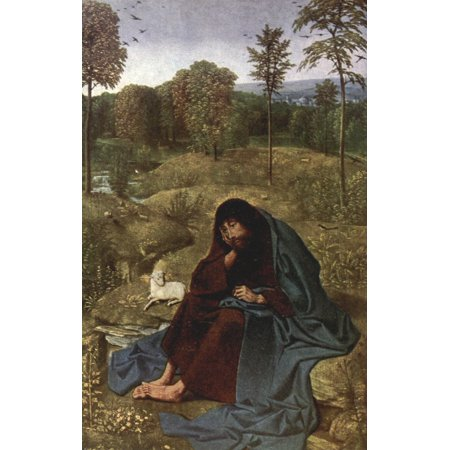 Old Masters 1900 St John the Baptist Canvas Art - Geertgen tot...