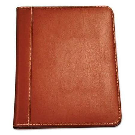 Samsill  Contrast Stitch Leather Padfolio, (Contrast Padfolio)