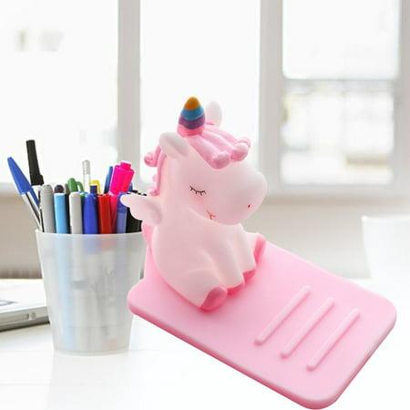 Lazy Cute Unicorn Mobile Phone Holder Meng Car Desktop Adjustable Bracket - image 2 de 6