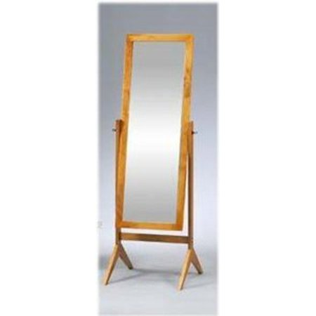 Legacy Decor Oak Finish Wood Rectangular Cheval Floor Mirror  Free Standing Mirror