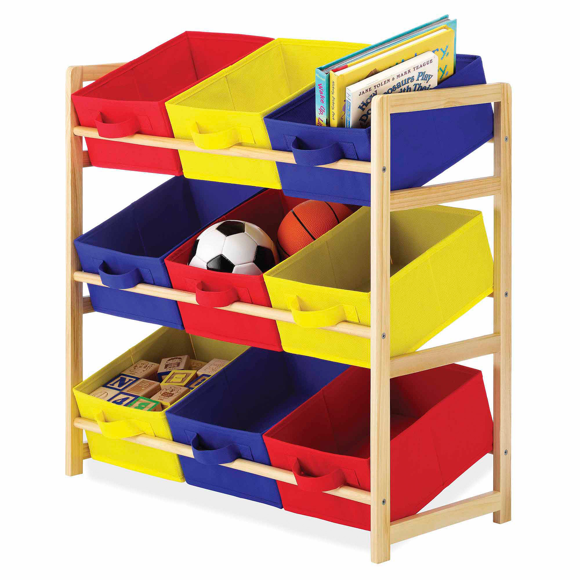 Whitmor Kid's 9-Bin Organizer, Primary