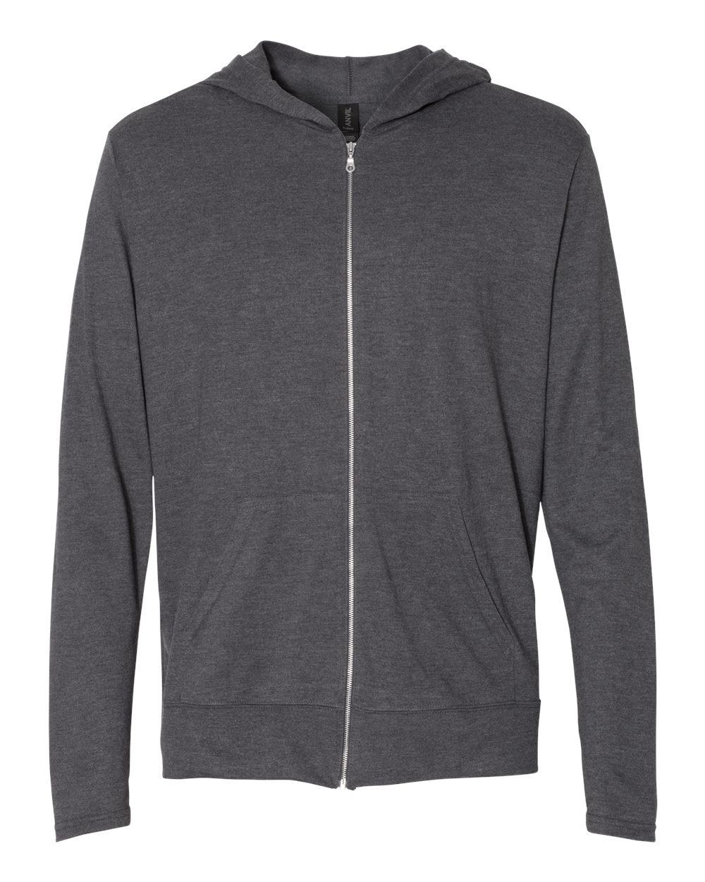 Anvil Triblend Hooded Full-Zip T-Shirt