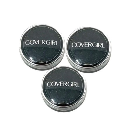 NEW Lot of 3 CoverGirl Flamed Out Shadow Pot 300 Molten Black (New Kids On The Block Cover Girl)