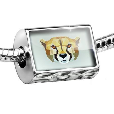 Bead Low Poly Animals Modern design Cheetah Charm Fits All European