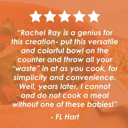 Rachael Ray 4 Quart Melamine Garbage Bowl, Orange