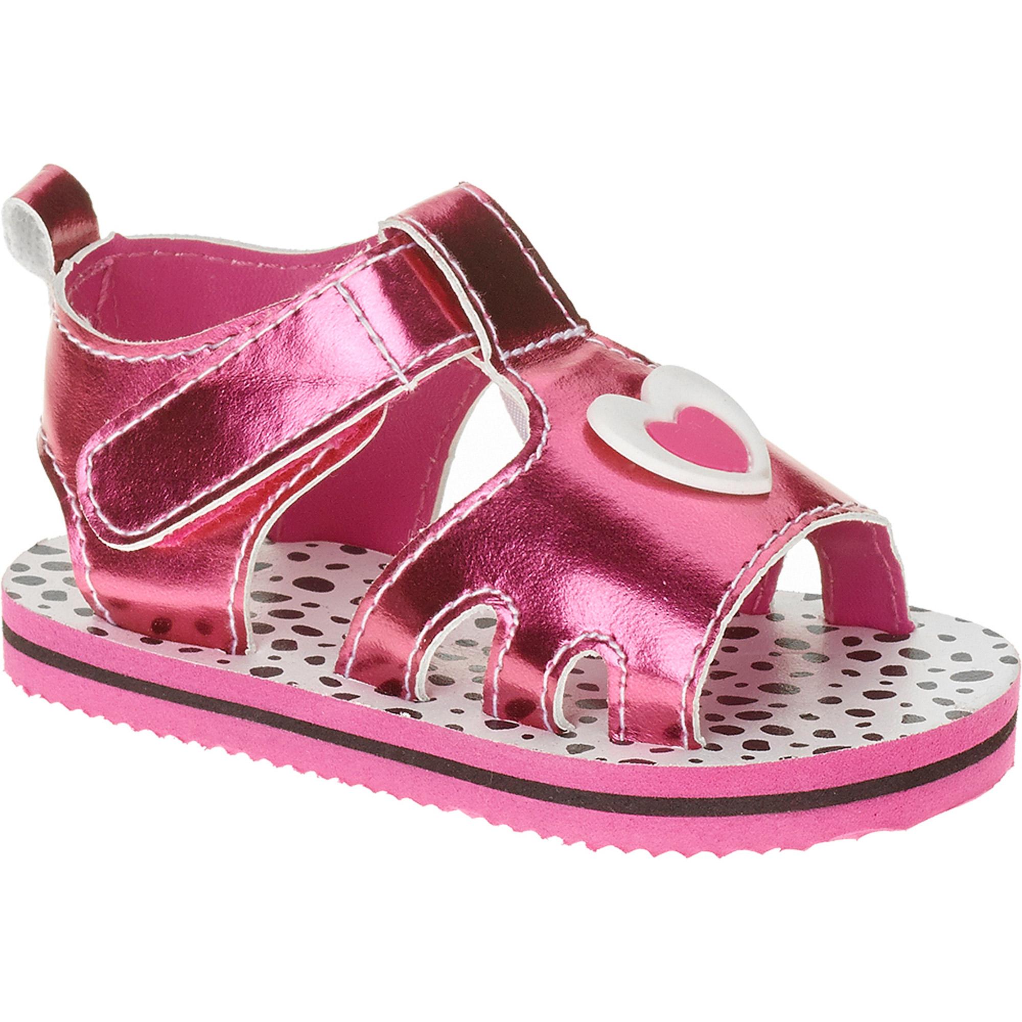 Gerber Newborn Girl Soft-Sole Heart Sandals