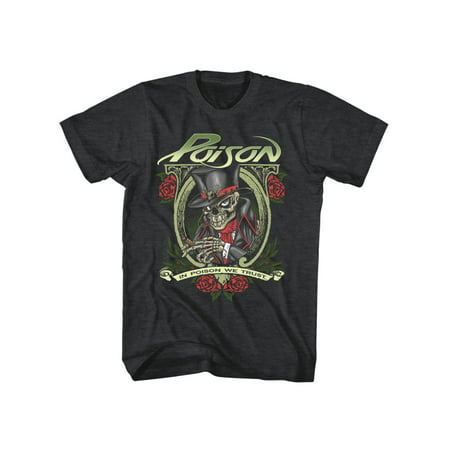 In Poison We Trust Rock Band Cigar Skeleton American Classics Adult T-Shirt
