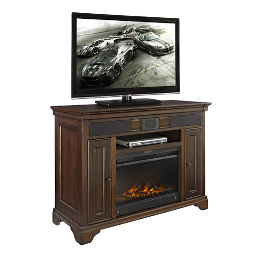 Fairfax Home Collections Belcourt 48'' TV Stand with Fireplace