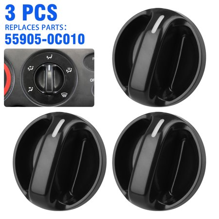 Set of 3 AC Air Conditioner Climate Control Knob Switch for 2000-2006 Toyota Tundra Replaces OE# 55905-0C010 559050C010