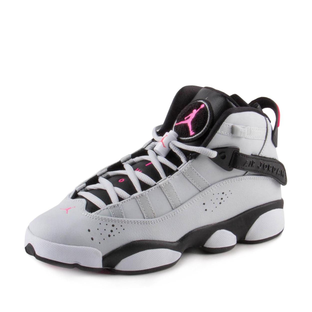 698f71ae9b04 ... Kids Air Jordan 6 Rings GS Pure Platinum Hyper Pink Black White 323399  - Walmart.