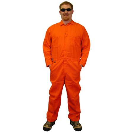Indura Flame Resistant Coverall (9 Oz.) Size Small orange color