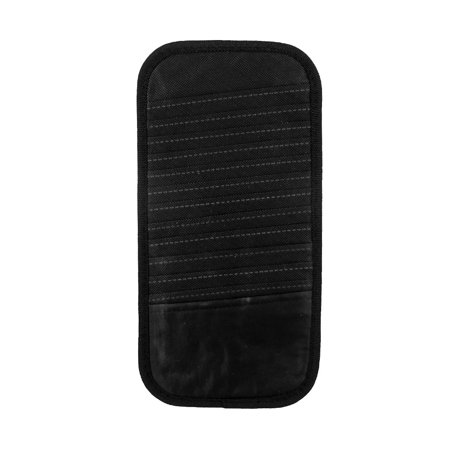 Unique Bargains Auto Vehicle Elastic Band Black Nylon 12 Pocket CD Visor Holder (Blend Visor)