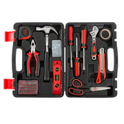 Stalwart Tool Kit - 123 Heat-Treated Pieces with Carrying Case - Essential Steel Hand Tool and Basic Repair Set for Apartments, Dorm, Homeowners