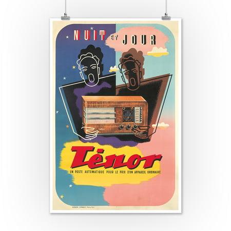 Tenor Vintage Poster (artist: Anonymous) France c  1930 (12x18 Art Print,  Wall Decor Travel Poster)
