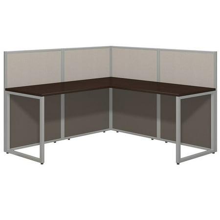 Scranton & Co L Shaped Wood Computer Desk in Mocha Cherry - image 3 de 8