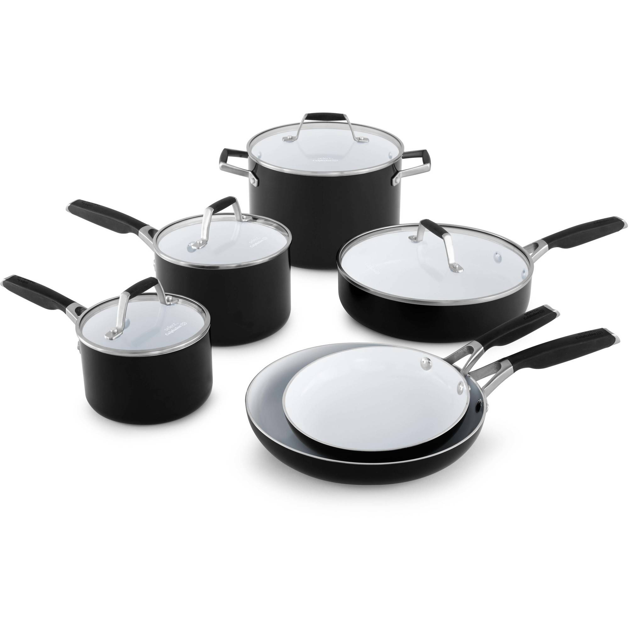 Cookware gt see more select by calphalon ceramic nonstick 8 inch an - Select By Calphalon Ceramic Nonstick 10 Piece Cookware Set Walmart Com