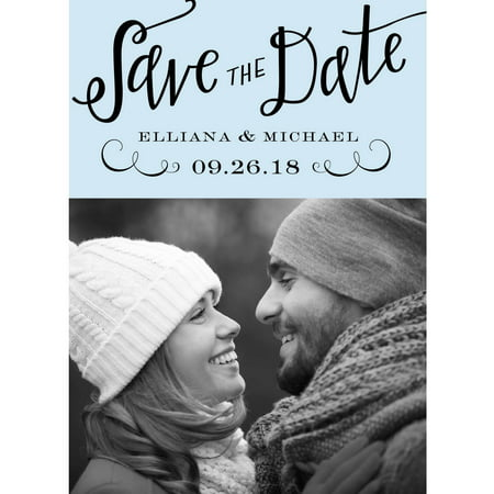 Calligraphy Mr and Mrs Standard Save the Date (Diy Save The Date Magnets)