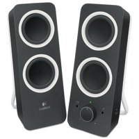 Logitech Z200 Multimedia 2.0 Stereo Speakers, Black