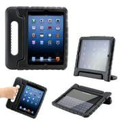 Apple iPad Mini / Mini Retina / Mini 3 Case (Released 2014) Children Safe Kids Friendly Protective Foam Case Cover Handle Stand - Black
