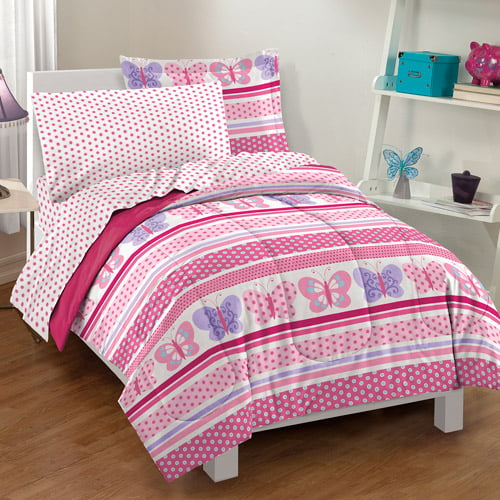 Click here to buy Dream Factory Butterfly Dots Bedding Comforter Set by CHF Industries Inc.