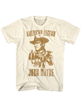 145096e8 Product Image John Wayne Icon Actor American Legend Western Many Faces Adult  T-Shirt Tee