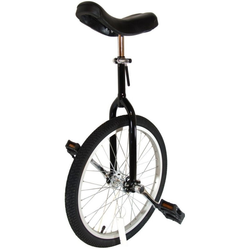 """Cyclists' Choice By-904A 20"""" Alloy Wheel Unicycle Black"""