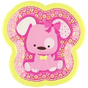 Girl Puppy Dog -  Party Dessert Plates (8 count)