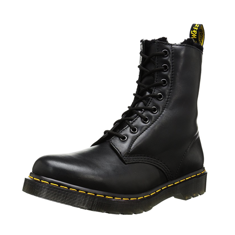 Dr. Martens Air Wair Serena Women Round Toe Leather Ankle Boot by Perry Ellis