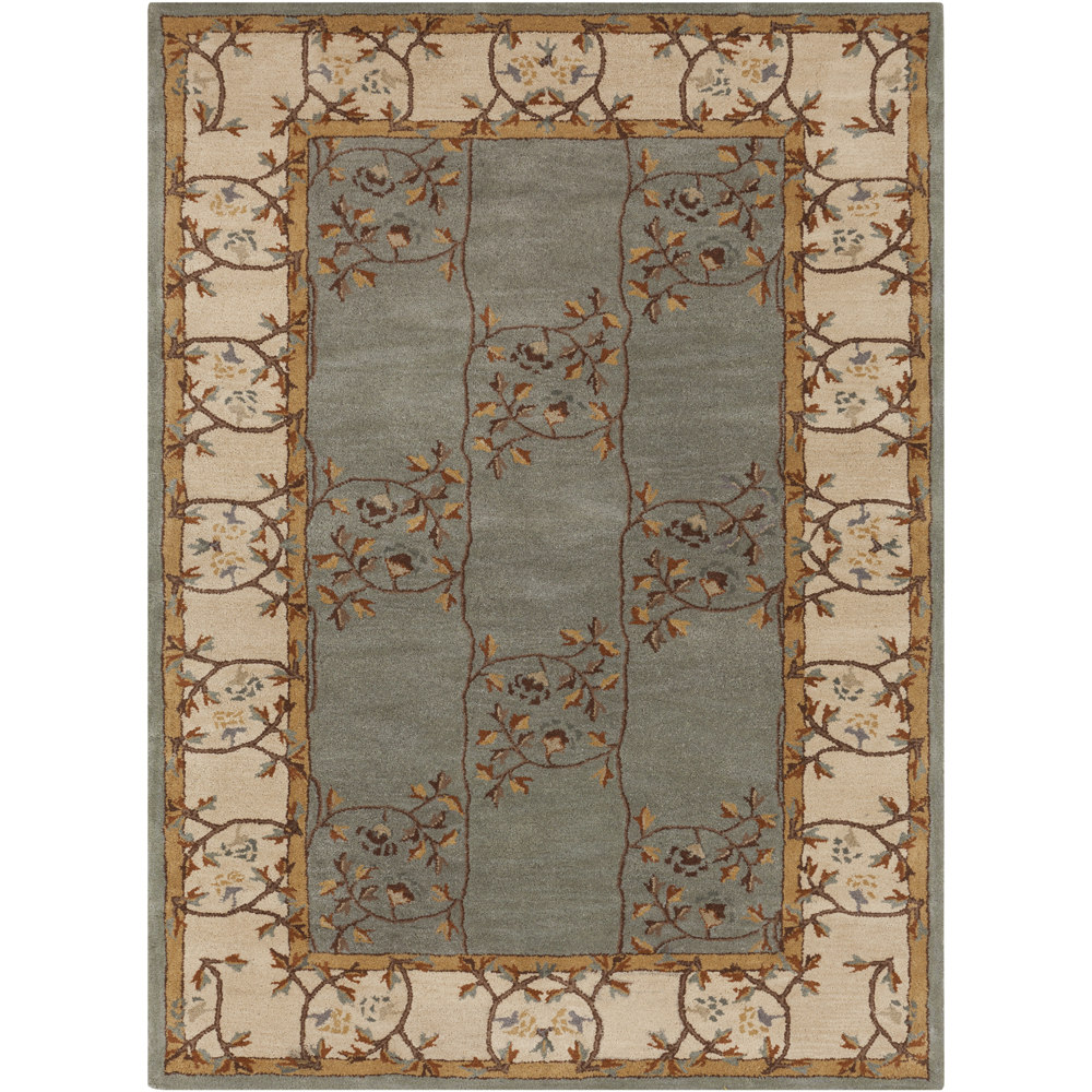 Hand Tufted Clady Grey Border Wool Area Rug 9 X 12 Walmart Com