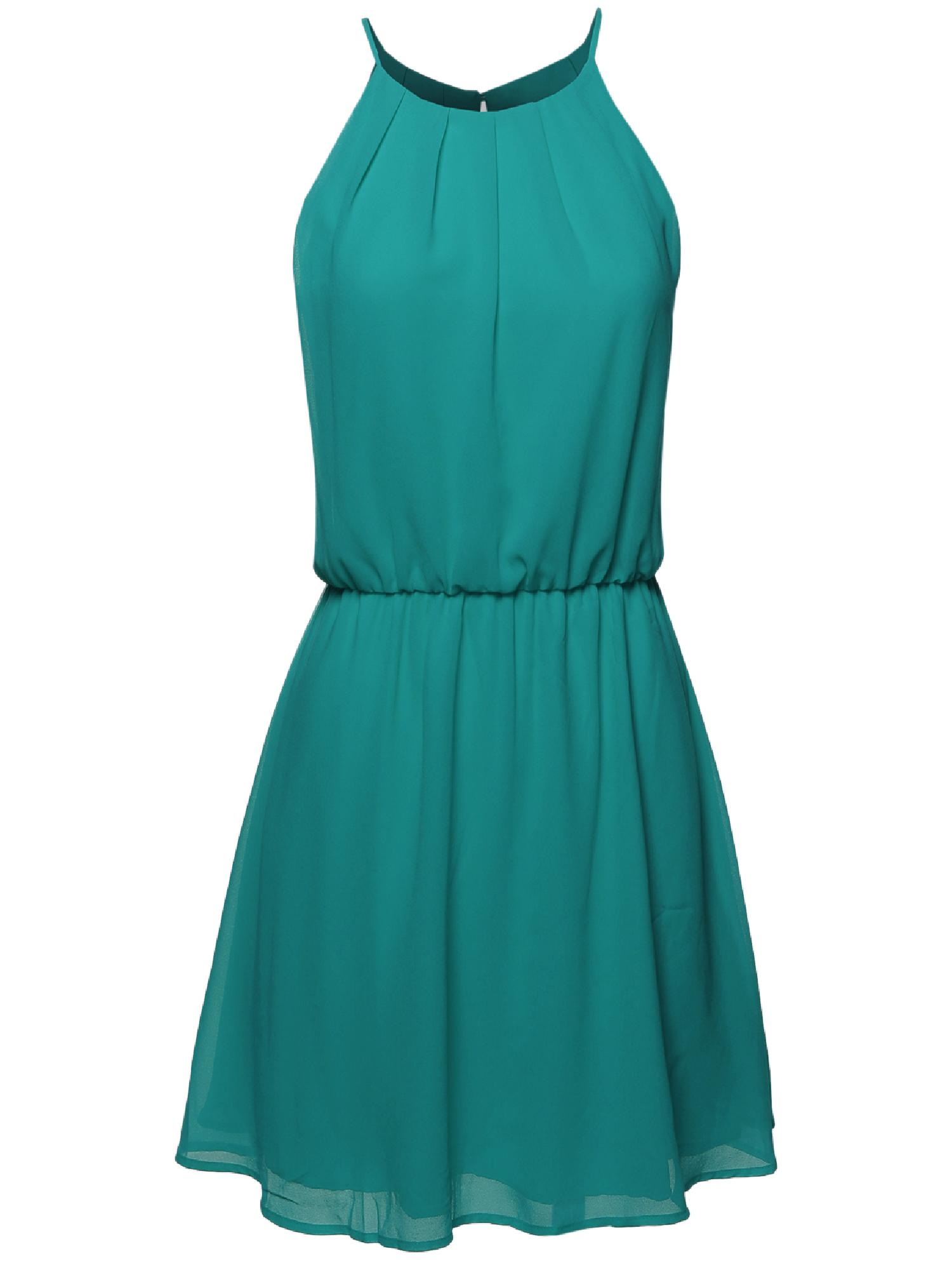 High Neck Pleated Dress