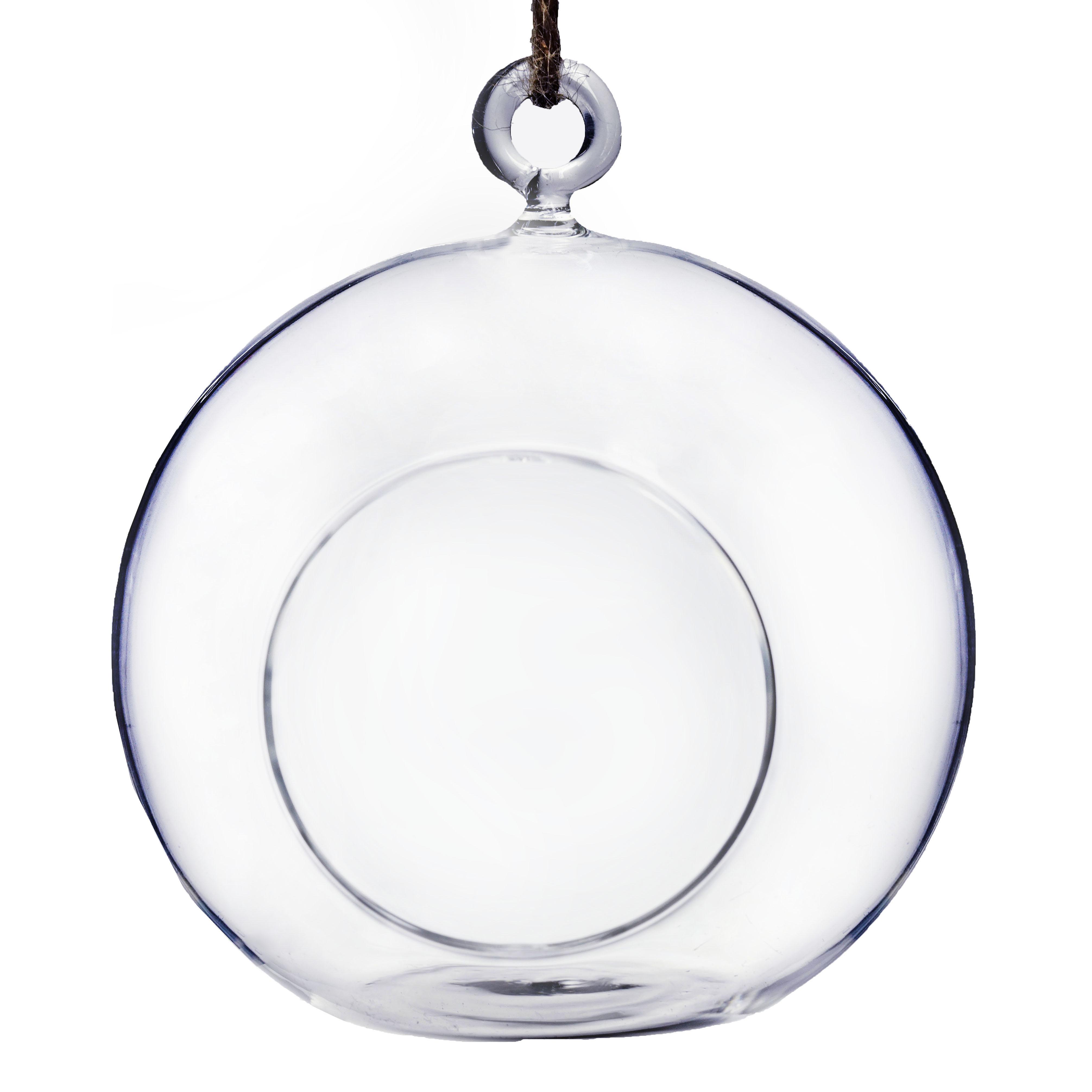 BalsaCircle Globe 4 pcs Clear Glass Terrariums - Hanging Bowl Plants Wedding Party Centerpieces Decorations Home Supplies