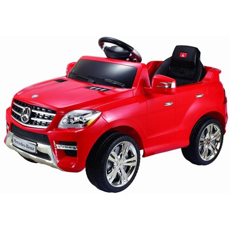 Costway mercedes benz ml350 6v electric kids ride on car for Walmart mercedes benz toy car