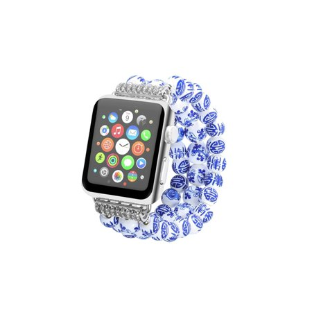 Painted Ceramic Beads Fashion Bracelet Band for Apple Watch Series 1, 2, 3 & 4