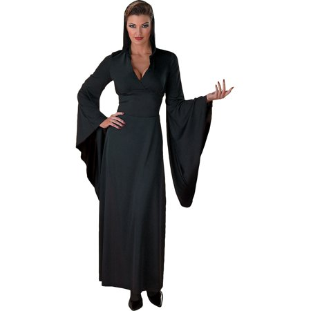 Sexy Hooded Black Robe Witch Vampiress Countess Classic Vampire Theatre Costume Sizes: One Size - Witch Robe