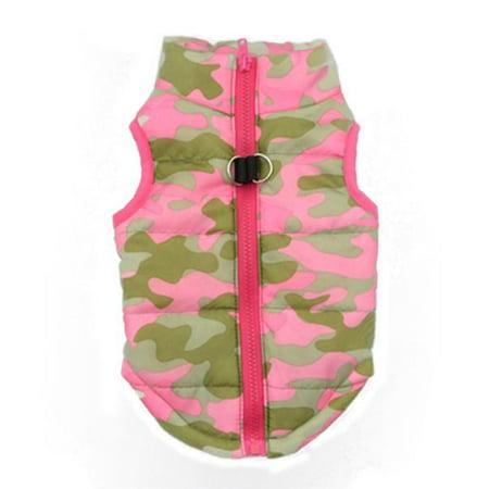 Hot Fashion Pet Camouflage Cloth Dog Cloth Dog Winter Cloth Pet Vest -