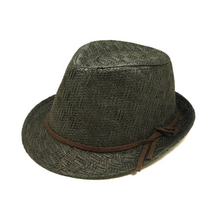 Girls Boys Young Adult (6-12) Fedora Straw Hat