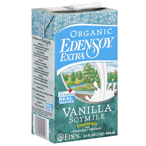 Eden Foods Edensoy Vanilla Extra Organic Soymilk, 32FO (Pack of 12)