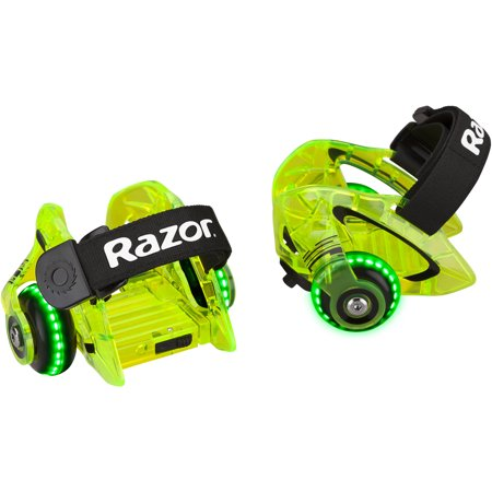 Razor Jetts DLX Heel Wheels with Sparks Neon Green- Ages 9+