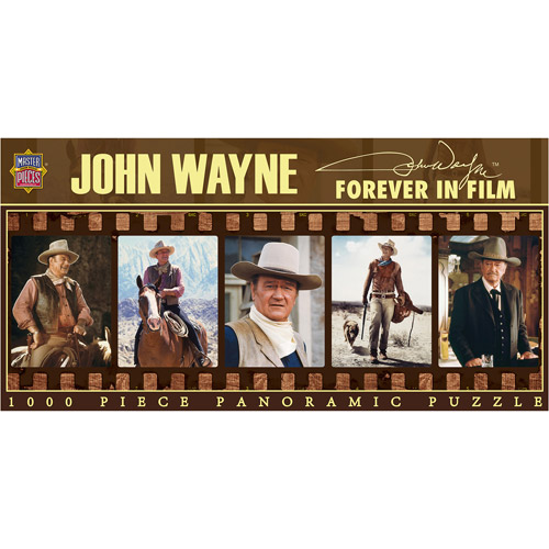 John Wayne, Forever in Film Panoramic Puzzle: 1000 Pieces