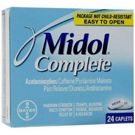 Midol menstruelles complète Caplets 24 ch (Pack de 4)