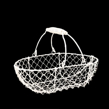 Stella White Mini Wire Oblong Basket 9in Walmart Com
