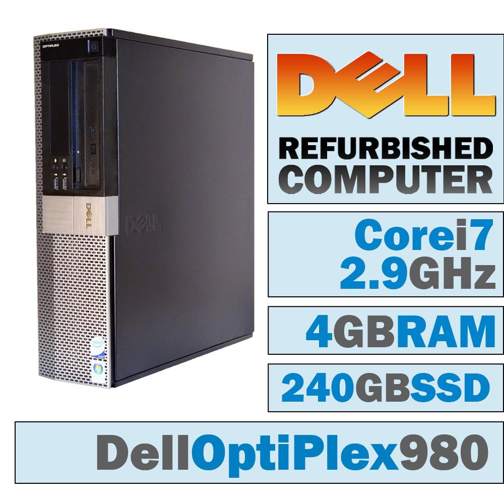 REFURBISHED Dell OptiPlex 980 DT/Core i7-870 @ 2.93 GHz/4GB DDR3/NEW 240GB SSD/DVD-RW/WINDOWS 7 PRO 64 BIT