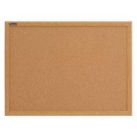 "Quartet Cork Bulletin Board, 36"" x 24"", Oak Finish Frame"