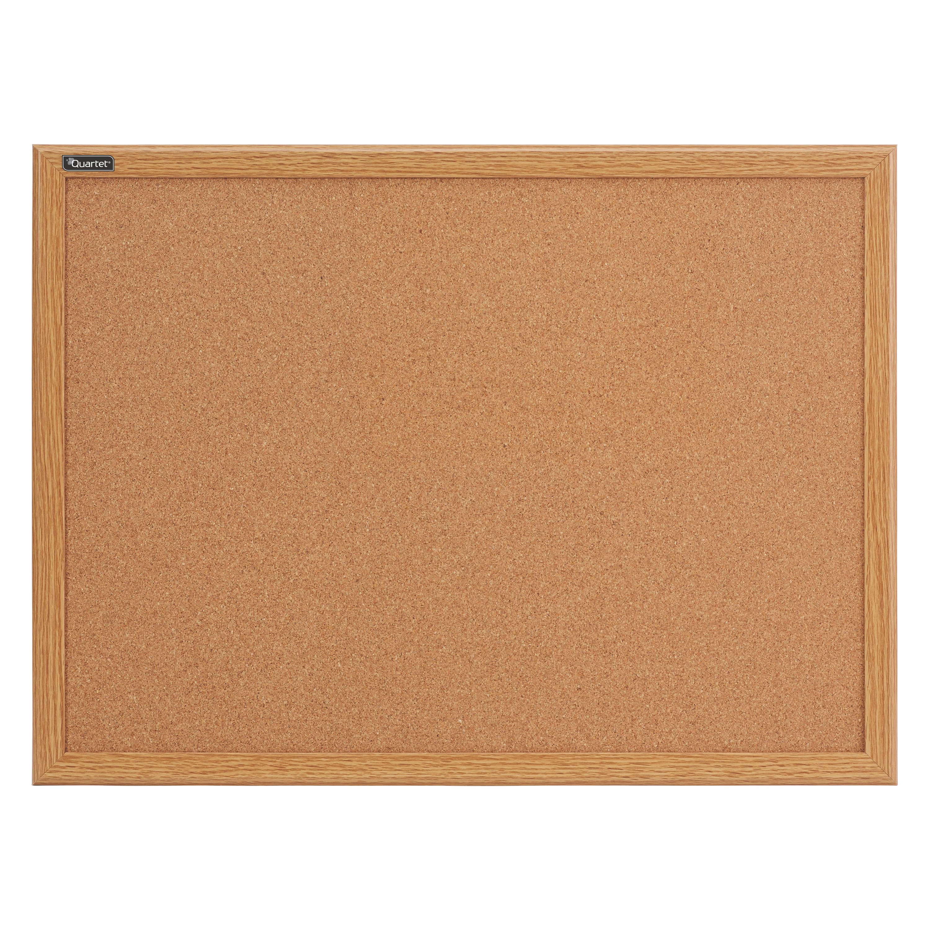 Quartet Cork Bulletin Board, 2' x 3', Oak Finish Frame (85223B)