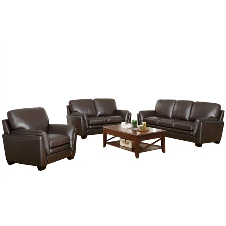 Outstanding Abbyson Living Bella Leather Sofa Loveseat And Armchair In Inzonedesignstudio Interior Chair Design Inzonedesignstudiocom